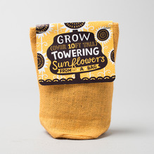 Noted Towering Sunflowers Plant Bag