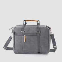 Qwstion Office Tote Washed Grey