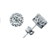 925 Sterling Silver Crown Ohrstecker