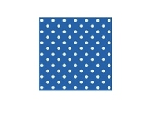Servietten Braun Party Time Cocktail Punkte blau 20Stk. 25x25cm