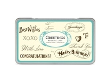 Stempel Cavallini Greetings Rubber Stamps 10 Texte