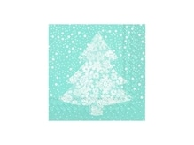 Servietten Ihr Lunch Christmas Lace light blue Christbaum