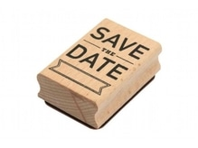 Stempel PaperPoetry Save The Date, Holzstempel im Format 60x40mm